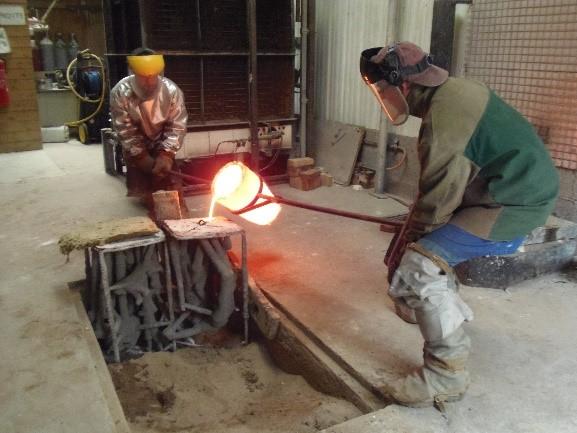 Coulée de bronze fonderie d'art 2